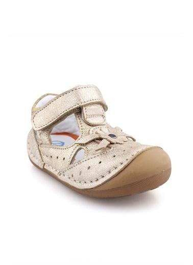 Cici Bebe Ayakkabı Deri Kız Çocuk Ayakkabısı Bronz